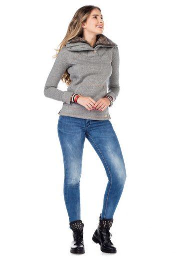 Cipo & Baxx Fleeceshirt  WL188  mit kuscheligem Kragen