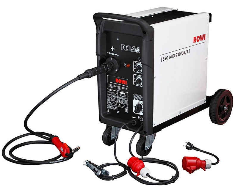 ROWI Schutzgasschweißgerät »MIG 220/35/1«, 35 - 220 A