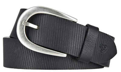 TOM TAILOR Denim Ledergürtel »Tom Tailor Denim Damen Leder Gürtel Schwarz 35mm«
