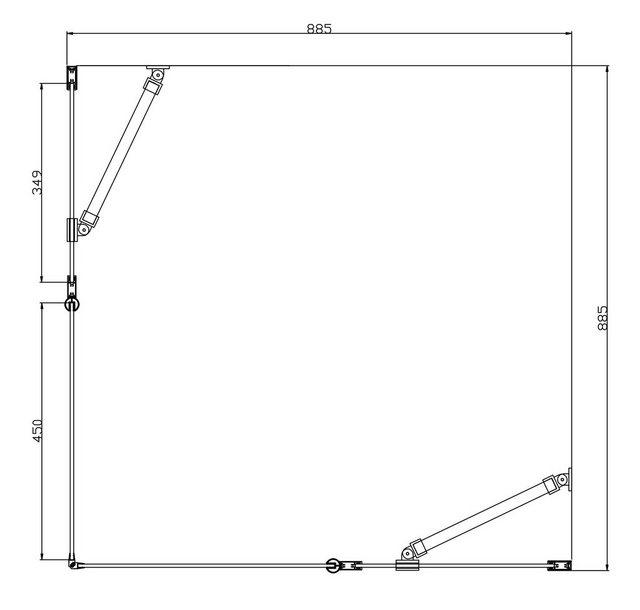 Duschen und Zubehör - welltime Eckdusche »Florenz«, BxT 90x90 cm, Sicherheitsglas, höhenverstellbar, barrierefrei  - Onlineshop OTTO