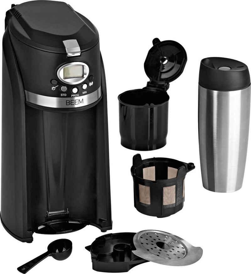 BEEM Kaffeemaschine mit Mahlwerk Grind & Brew 2 Go, 0,4l Kaffeekanne, Permanentfilter