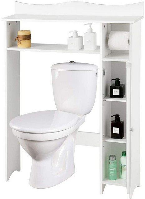 Badregale - COSTWAY Badregal »Toilettenregal Badezimmerregal Toilettenschrank Überbauschrank Waschmaschinenregal«, mit verstellbaren Regalen  - Onlineshop OTTO