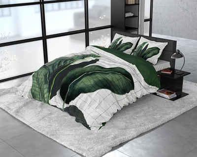 Bettbezug »DREAMHOUSE BOTANICAL WILD NATURE -Bettbezug & Kissenbezüge«, Sitheim-Europe (2 St), Der Satin sorgt für einen leichten Glanz