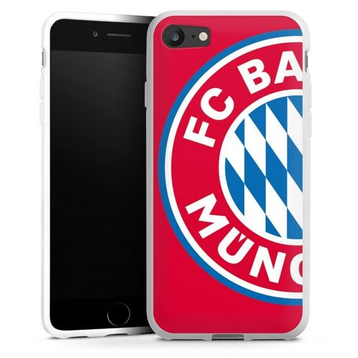 DeinDesign Handyhülle »großes FCB Logo Rot« Apple iPhone 8, Hülle FC Bayern München Offizielles Lizenzprodukt FCB