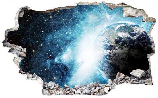 Wall-Art Wandtattoo »Weltraum Sticker 3D Galaxie« (1 Stück)