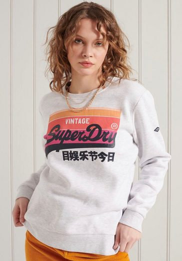 Superdry Kapuzensweatshirt »VL CALI CREW« mit buntem Logodruck