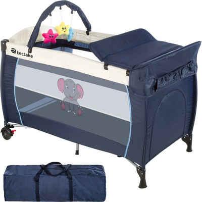 tectake Baby-Reisebett »Kinderreisebett Elefant mit Wickelauflage«