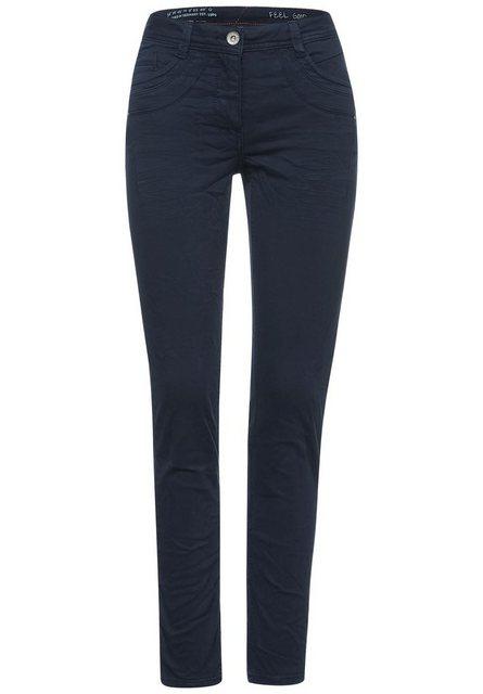 Hosen - Cecil Comfort fit Jeans mit Crash Effekt › blau  - Onlineshop OTTO