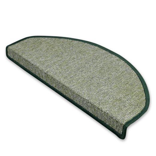 Stufenmatte »Bel Air«, Kubus, Halbrund, Höhe 5.5 mm, Strapazierfähiger Flor