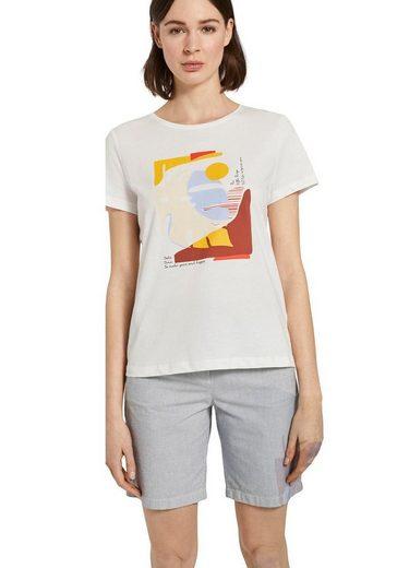 TOM TAILOR T-Shirt mit floraler Stickerei