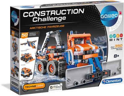 Clementoni® Modellbausatz »Galileo - Construction Challenge - Arktische Fahrzeuge«, Mit kostenloser App; Made in Europe