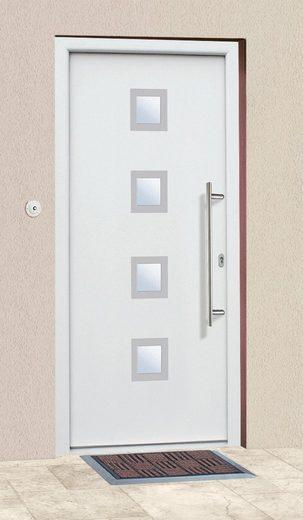 KM Zaun Haustür »A05«, BxH: 98x198 cm, weiß, in 2 Varianten