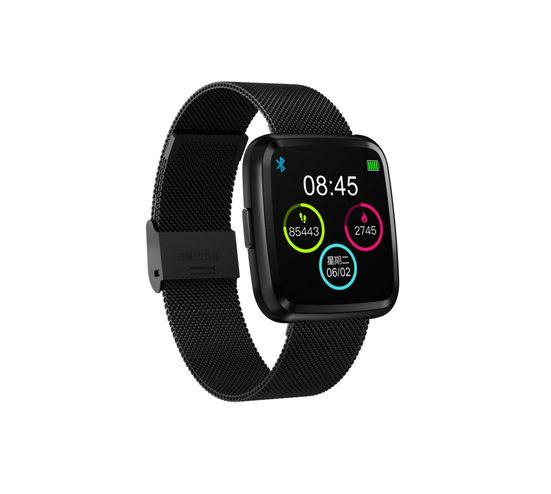 novasmart Activity Tracker »runR III Smartwatch Fitness Tracker HD-Farbbildschirm Fitness Armband Uhr mit Pulsmesser, Schlafmonitor, Sportuhr, Schrittzähler für Android und iOS, schwarz«, Metall- oder Sportarmband erhältlich