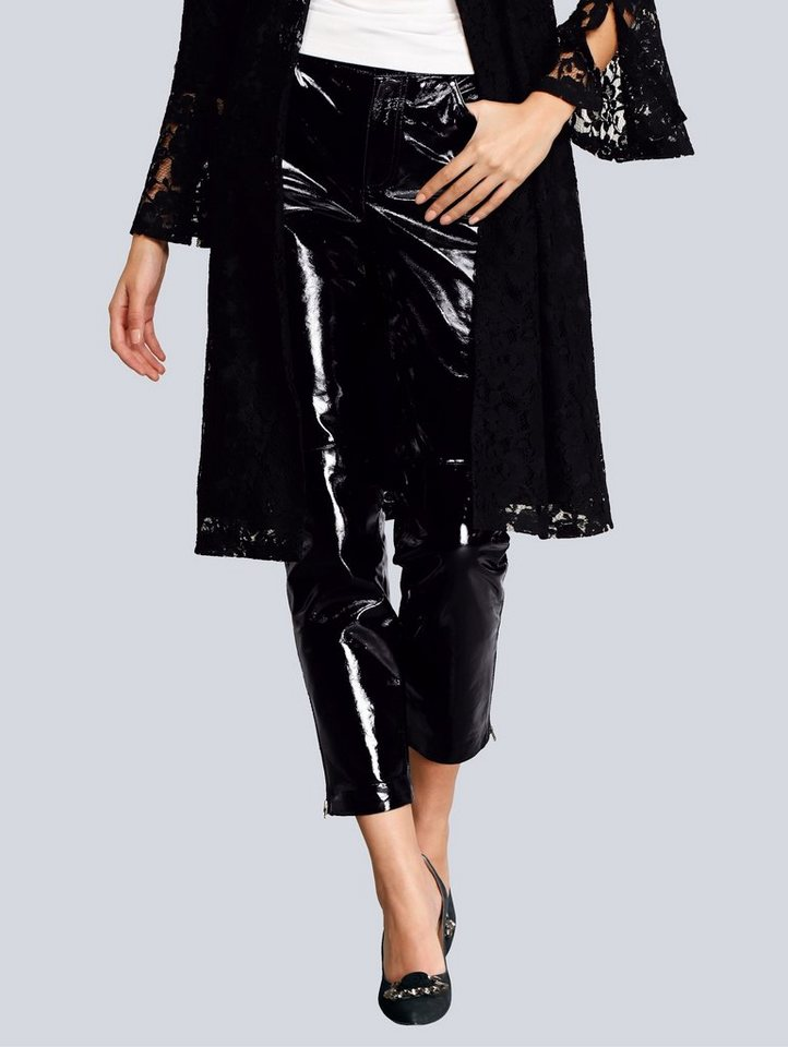 alba moda -  Lack-Lederhose in modischer Form