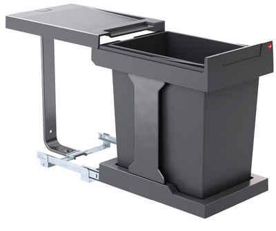 Hailo Einbaumülleimer »Abfallsammler 3635001 AS Solo 20 dunkelgrau«, für Schrankbreite ab 300 mm mit Drehtür