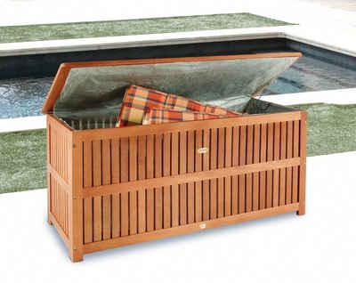 Auflagenbox 130x58x55 Cm Eukalyptusholz Braun
