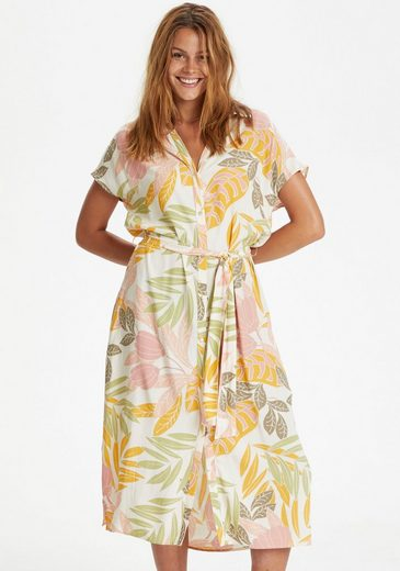 Saint Tropez Blusenkleid mit grafisch floralem Alloverprint