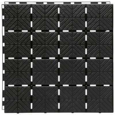 Prosperplast Terrassenplatten »Easy square S411«, 40x40 cm, 9-St., Klickfliesen