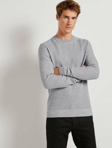 TOM TAILOR Strickpullover »Fein strukturierter Pullover«