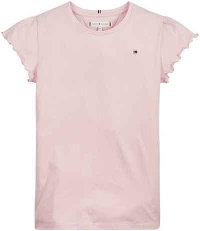 Tommy Hilfiger T-Shirt »ESSENTIAL RUFFLE SLEEVE« mit gewellten Ärmelsäumen