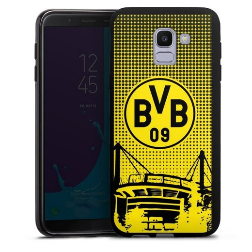 DeinDesign Handyhülle »BVB Dots« Samsung Galaxy J6 (2018), Hülle Stadion BVB Borussia Dortmund
