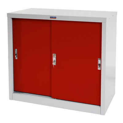 MCW Aktenschrank »H333« Abschließbar, inkl. 2 Schlüssel, Abschließbar, Wesentlich stabiler als übliche Heißwalzung, 2 Schiebetüren