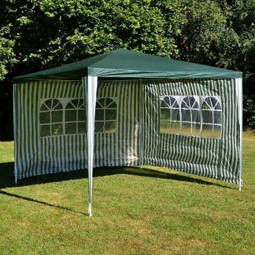 VCM Pavillon »Pavillon 3x3 m Grün mit Seitenfenster«