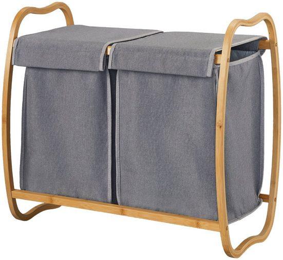 WELLTIME Wäschekorb »Costa Rica«, Doppel-Wäschebox, 70 cm breit, Bambus