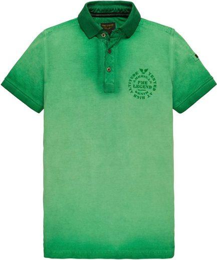 PME LEGEND Poloshirt in modischer Oil-washed-Optik