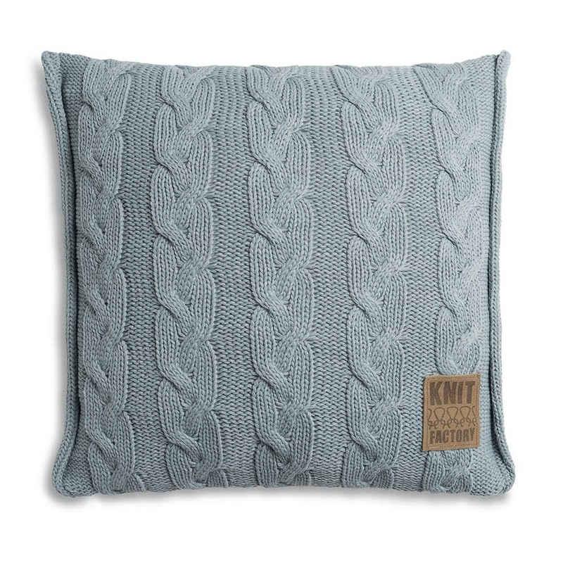 Knit Factory Dekokissen »Knit Factory Sasha Kissen Stone Green - 50x50«