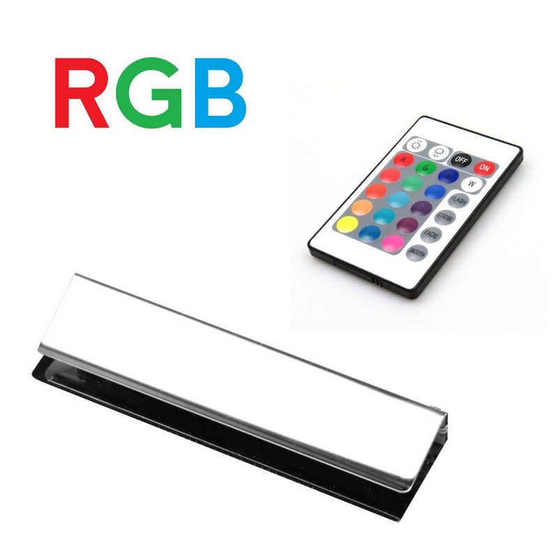 kalb LED Glaskantenbeleuchtung »kalb LED RGB Glaskantenbeleuchtung Glasbodenbeleuchtung Vitrinenbeleuchtung Clip Glas«