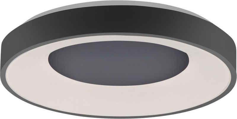 my home LED Deckenleuchte »Aidan«, Deckenleuchte schwarz mit Farbtemperatursteuerung CCT 2700-5000K, Deckenlampe inkl. Infrarotfernbedienung, dimmbar, Memoryfunktion, Serienschalter