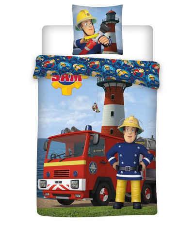 Babybettwäsche »Feuerwehrmann Sam - Baby-Bettwäsche-Set, 100x135 & 40x60 cm«, Feuerwehrmann Sam, 100% Baumwolle