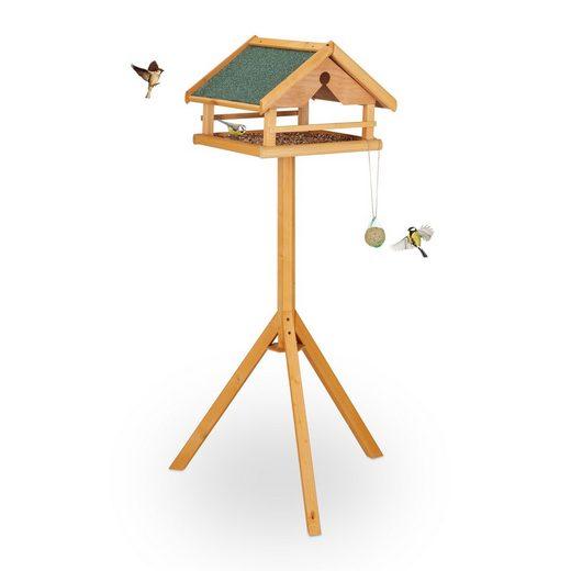 relaxdays Vogelhaus »Vogelfutterhaus mit Ständer«