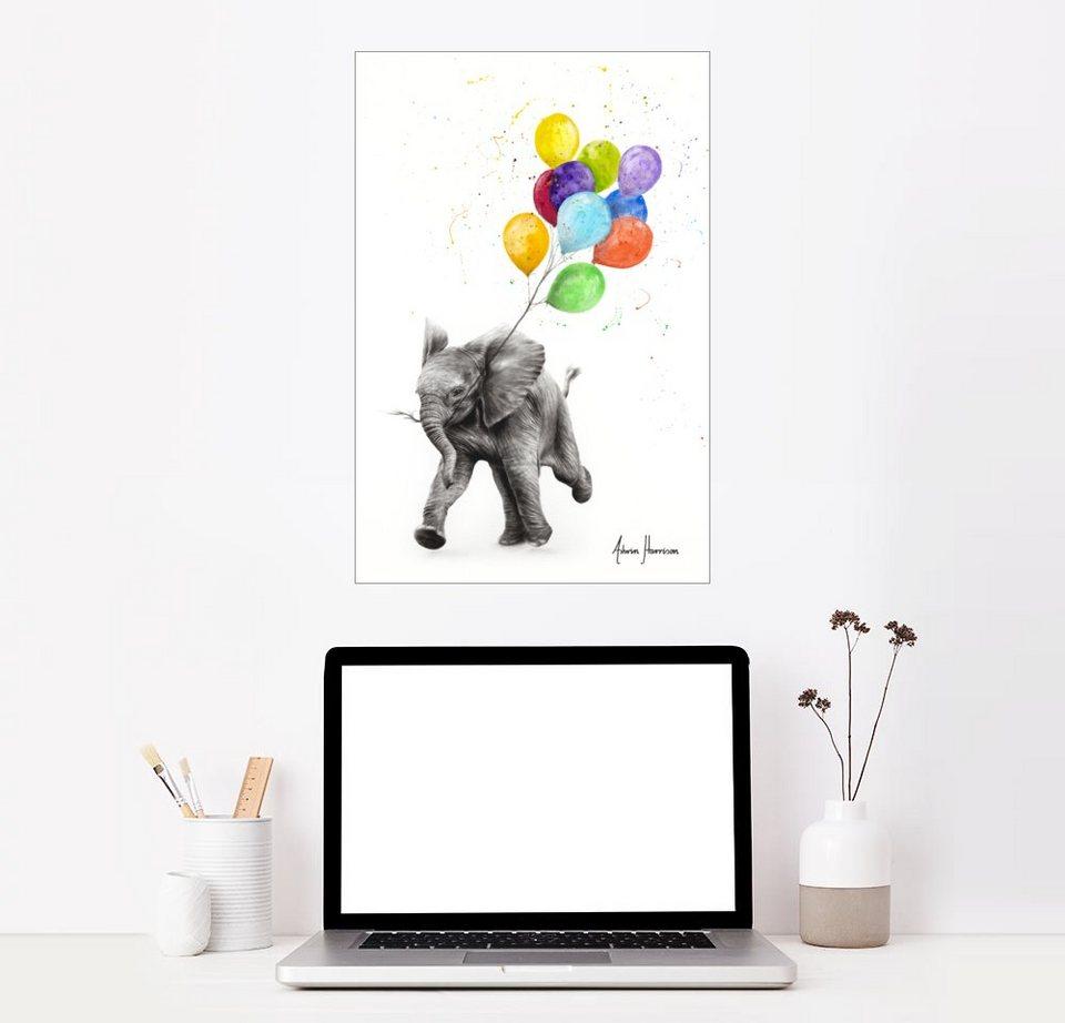 posterlounge wandbild premiumposter baby elefant mit
