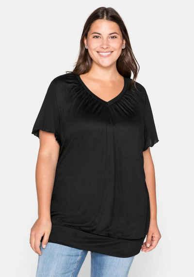 Sheego T-Shirt mit Flügelärmeln