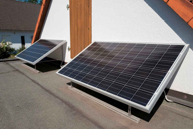 Sunset Solarmodul »SUNpay®300«, 300 W, Monokristallin, (Komplett-Set), Mini-PV-Solaranlage