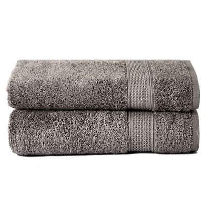 Komfortec Handtuch »Komfortec 2er Badetücher-Set, Handtücher Set, 70x140 cm, 100% Baumwolle, Schnelltrocknend, Towel Set, Badezimmer Handtuch, Duschtuch Badetuch, Bath Sheets«