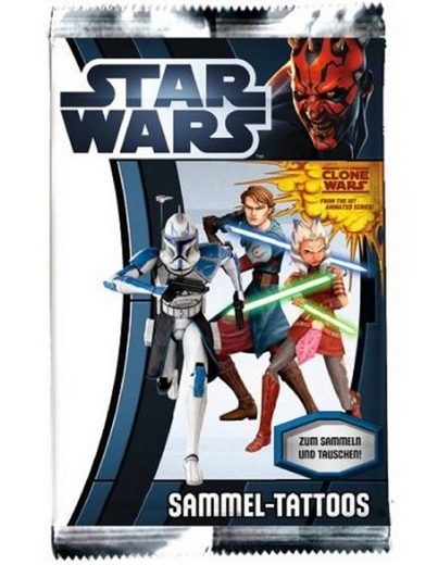 Star Wars Sticker »STAR WARS SAMMEL TATTOOS PANINI THE CLONE WARS GEMISCHT NEU«, (4-tlg)