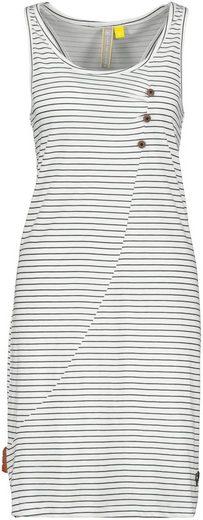 Alife & Kickin Jerseykleid »CamyAK« süßes Trägerkleid in Wickelkleid-Optik mit Alloverprint