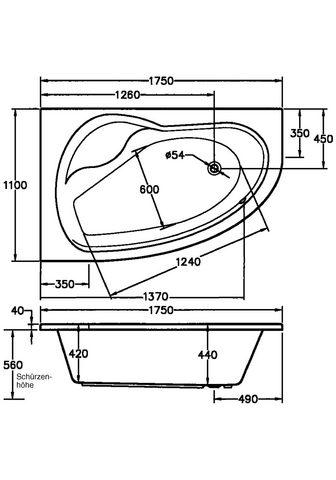 OTTOFOND Whirlpool-Badewanne »Loredana« (Komple...