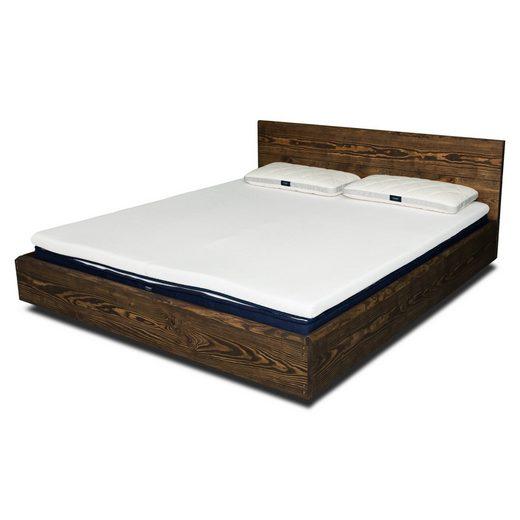 JOHANENLIES Bett »Schwebebett CASTELLET mit Kopfteil«, Recyceltes Bauholz. Nachhaltig. Handgemacht.