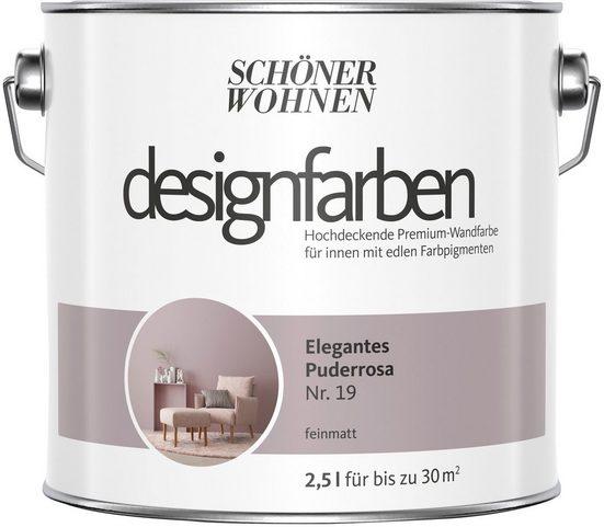 SCHÖNER WOHNEN FARBE Farbe »Designfarben«, Elegantes Puderrosa Nr. 19, feinmatt 2,5 l