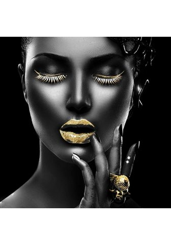 Leonique Acrylglasbild »Gesicht« Frau