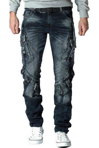 Cipo & Baxx Turnbeutel »Cipo & Baxx Herren Jeans BA-CD440«, Biker Jeans Hose mit zusätzlichen Taschen