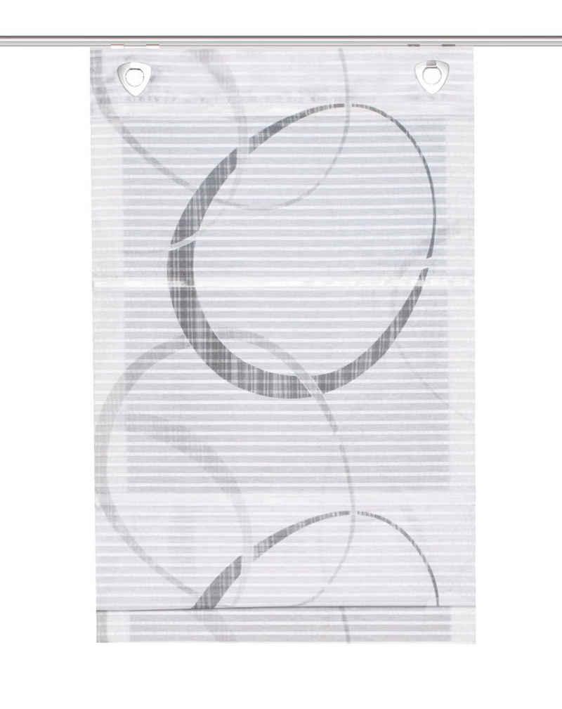 """Magnetrollo »Magnetrollo Vitus mit ausgedruckten Kreisen, Farbe: grau, Raffrollo in """"Bambus"""" Optik, «, Clever-Kauf-24, mit Bohren"""
