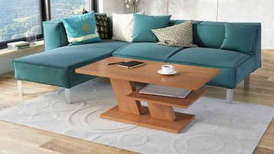Mazzoni Couchtisch »Design Couchtisch Cliff Erle Tisch Wohnzimmertisch 110x60x45cm mit Ablagefläche«