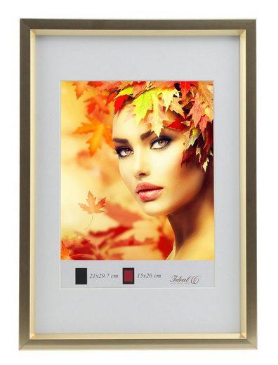 IDEAL TREND Bilderrahmen »Metal Style Kunststoff Bilderrahmen A4 bis 50x70 Fotorahmen Bildträger Lifestyle«