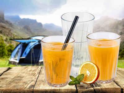 APS Gläser-Set, Tritan, 4-tlg. Trinkbecher, Kinderbecher, Mehrwegbecher, Gläser für Camping und Garten, unzerbrechlich