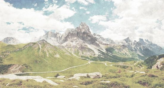 LIVINGWALLS Fototapete »Walls by Patel Dolomiti 2«, Premium Vlies